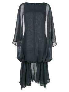 Jacquemus gathered skirt peasant dress - Black