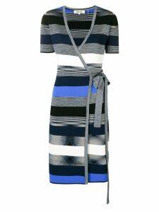 Dvf Diane Von Furstenberg striped wrap dress - Blue