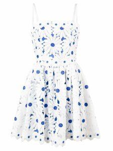 Alice+Olivia flower appliqué sun dress - White