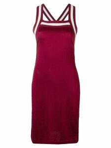 T By Alexander Wang knit striped dress - Red