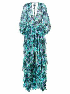 Emanuel Ungaro long hi-low dress - Green