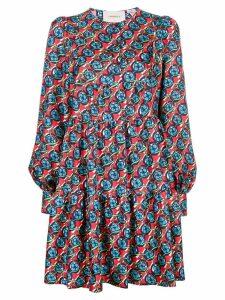 La Doublej long-sleeve floral print dress - Red