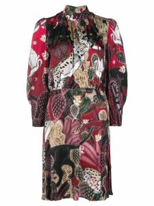 Just Cavalli collage-print dress - Red