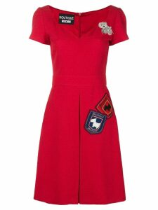 Boutique Moschino jacquard dress - Red