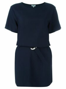 Kenzo belted T-shirt dress - Blue