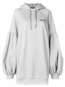 Wandering balloon sleeve hoodie dress - Grey