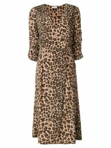 P.A.R.O.S.H. leopard print wrap dress - Brown