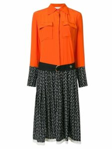 Chloé pleated shirt dress - Orange