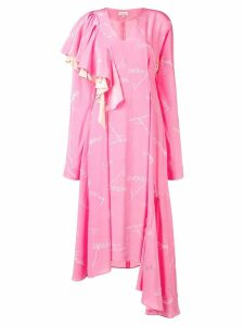Natasha Zinko printed asymmetric dress - Pink