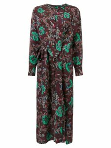 Isabel Marant floral print belted dress - Red