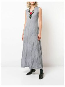 Issey Miyake textured pleat dress - Grey