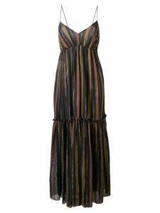 Zimmermann long striped dress - Black