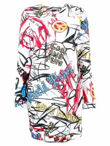 Love Moschino printed tee dress - White