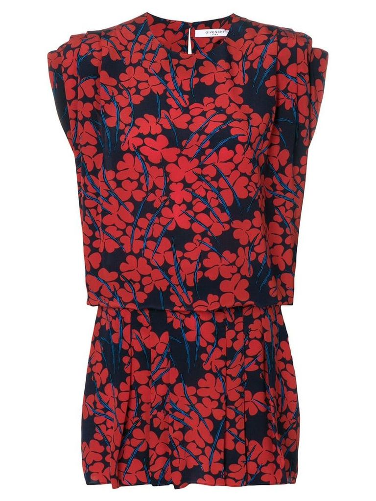 Givenchy floral print dress - Blue