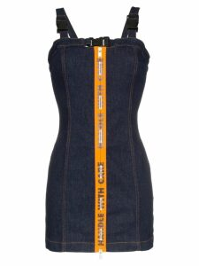 Heron Preston Handle With Care sleeveless denim dress - Blue