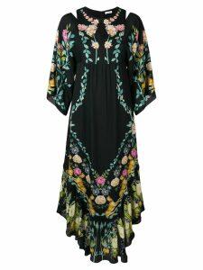 Vilshenko asymmetric hem floral dress - Black