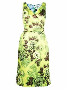 Richard Quinn floral print fitted dress - Green