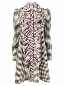 Ultràchic check print dress - Brown