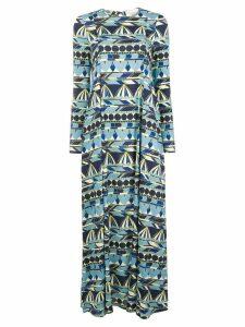 La Doublej long printed dress - Blue