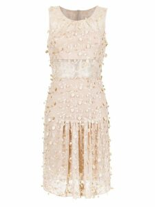 Gloria Coelho foliage tulle dress - Neutrals