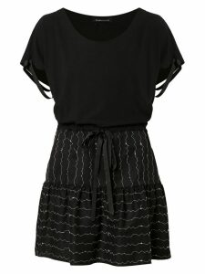 Gloria Coelho short flared dress - Black
