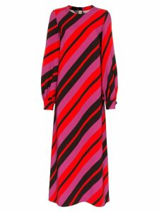 Marni stripe print long sleeve mid-length dress - Red