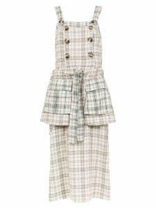 Framed Played midi dress - Neutrals