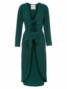 Framed Knots midi dress - Green
