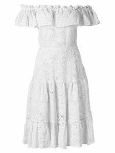 Isolda off-the-shoulder dress - White
