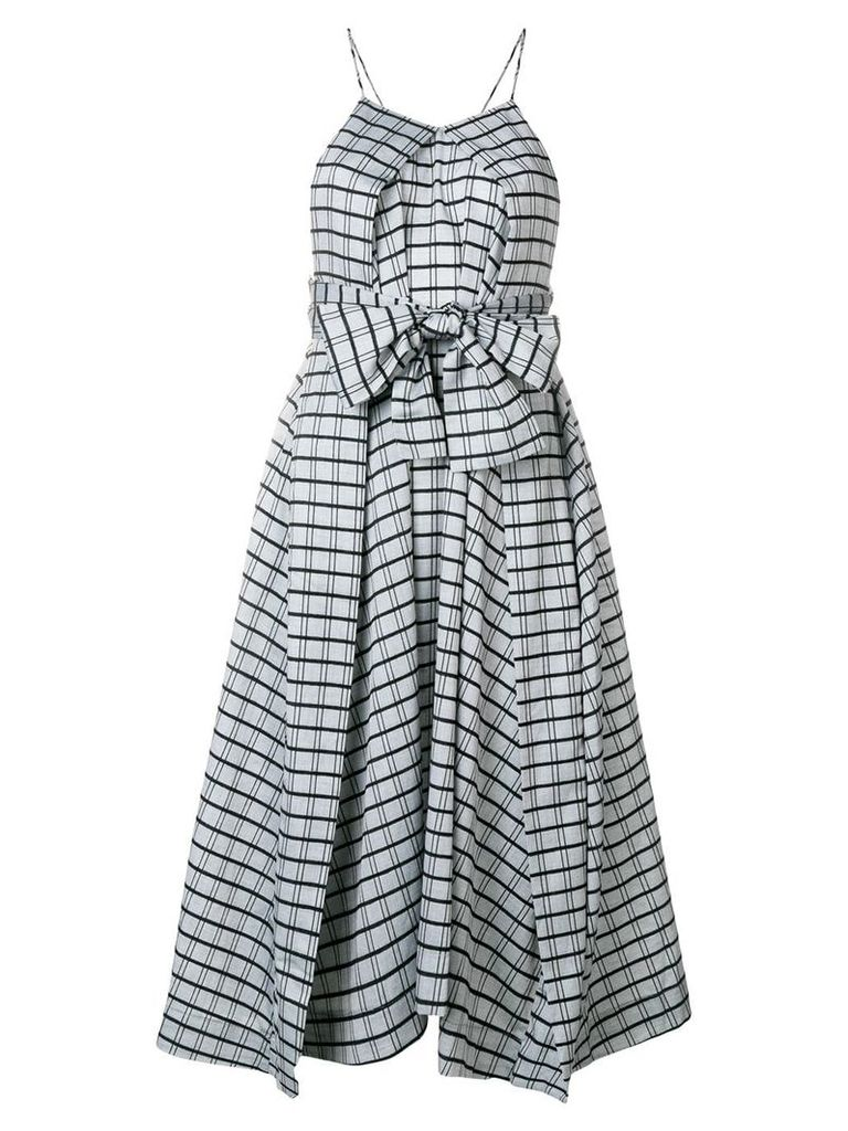 Henrik Vibskov asymmetric check dress - Grey