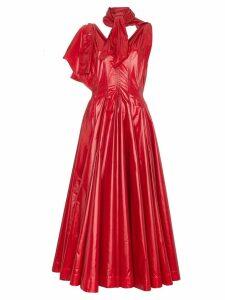 Calvin Klein 205W39nyc neck tie V-neck flared nylon gown