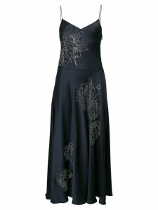 Stella McCartney crystal floral dress - Blue