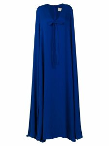 Elie Saab cape long dress - Blue