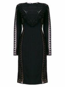 Stella McCartney lace panel fitted dress - Black