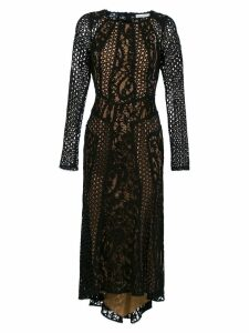 Martha Medeiros Miranda lace midi dress - Black