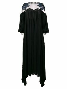 Fendi pleated long dress - Black