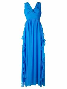 MSGM frill plunge gown - Blue