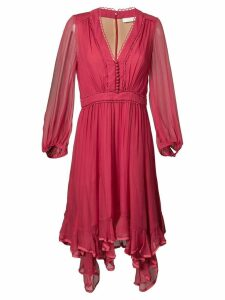 Chloé ruffle-hem dress - Red