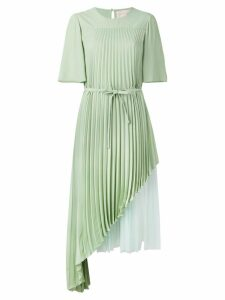 Christopher Kane pleated layered dress - Green