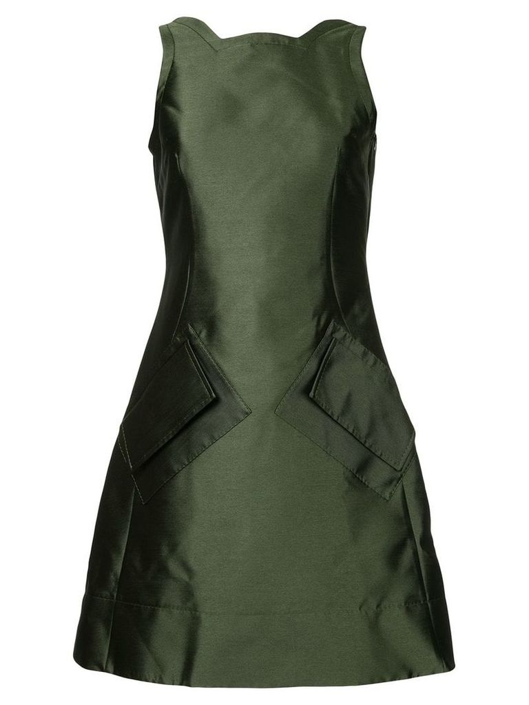 Antonio Berardi fitted symmetric dress - Green