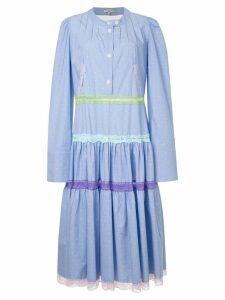 Natasha Zinko pleated shirt dress - Blue