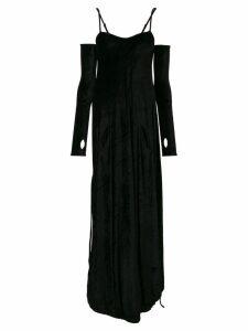 Andrea Ya'aqov velvet glove detail dress - Black