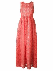 P.A.R.O.S.H. flower embellished long dress - Pink