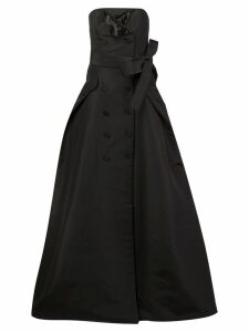 Carolina Herrera button detailing strapless gown - Black