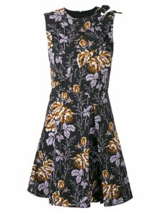 Victoria Beckham floral flared dress - Black