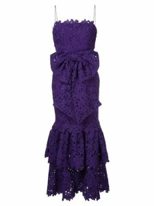 Bambah lace double ruffle dress - Purple