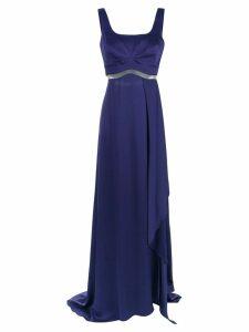 Tufi Duek cut out details gown - Purple