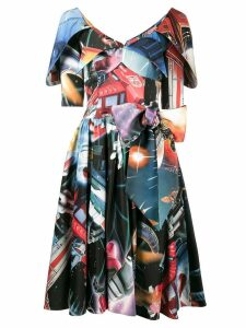 Moschino space print dress - Multicolour