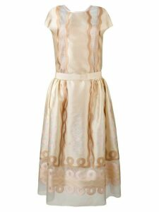 Fendi panel empire dress - Neutrals
