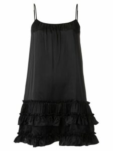 Olympiah ruffled silk dress - Black